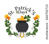 greeting frame st patricks day... | Shutterstock .eps vector #366702713