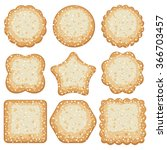 vector set of sugar cookies | Shutterstock .eps vector #366703457