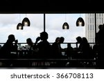 black silhouettes of people... | Shutterstock . vector #366708113