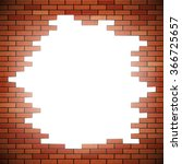 White Hole In Red Brick Wall....