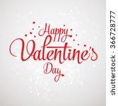 valentines day heart love... | Shutterstock .eps vector #366728777