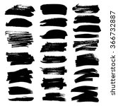 set of black textured strokes... | Shutterstock .eps vector #366732887