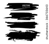 thick black textured strokes... | Shutterstock .eps vector #366733643