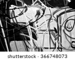 Small photo of Abstract spray painting graffiti wall background. Random stroke line with spray. Rustic and grunge texture urban. Agitate, disturb and annoy. Black and white colors. Close up.