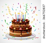 birthday cake | Shutterstock .eps vector #366752837