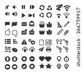 simple ui icon set