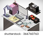illustration of info graphic... | Shutterstock .eps vector #366760763