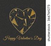 vector symbol heart shape... | Shutterstock .eps vector #366764273
