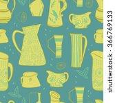 retro pitches seamless vector... | Shutterstock .eps vector #366769133