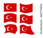 flag of turkey. set  national... | Shutterstock .eps vector #366774653