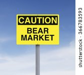 a caution sign indicating bear... | Shutterstock . vector #366783593