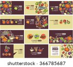 business cards templates and...   Shutterstock .eps vector #366785687