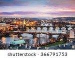 beautiful night view of prague | Shutterstock . vector #366791753