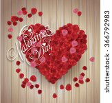 valentine's day background.... | Shutterstock .eps vector #366792983