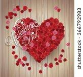 valentine's day background.... | Shutterstock .eps vector #366792983