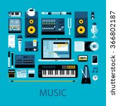 flat colorful illustration... | Shutterstock .eps vector #366802187