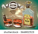 rum was pour in two glasses... | Shutterstock .eps vector #366802523