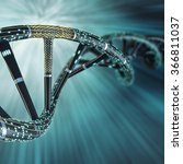 artificial dna molecule  the... | Shutterstock . vector #366811037