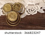 Small photo of South African one and twelve Shilling jewelry earrings