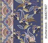 paisley ornamental pattern.... | Shutterstock .eps vector #366827807