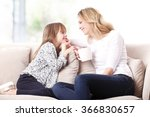 portrait of a beautiful mother... | Shutterstock . vector #366830657