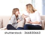 portrait of a beautiful mother... | Shutterstock . vector #366830663