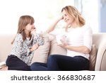 portrait of a beautiful mother... | Shutterstock . vector #366830687