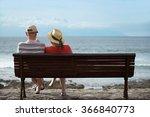 Couple At The Beach.elderly...