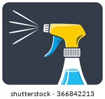 cleaning spray icon. | Shutterstock .eps vector #366842213