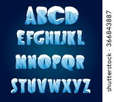 ice alphabet. collection of ice ... | Shutterstock .eps vector #366843887