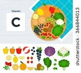 vitamin c vector flat... | Shutterstock .eps vector #366844013
