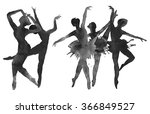 ballerina. dancer. monochrome... | Shutterstock . vector #366849527