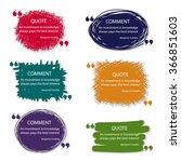 vector quote blank template.... | Shutterstock .eps vector #366851603