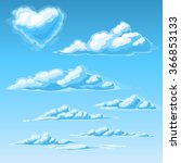 vector clouds | Shutterstock .eps vector #366853133