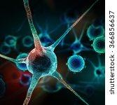 neurons abstract background.... | Shutterstock . vector #366856637