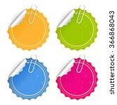 paper stickers set vector... | Shutterstock .eps vector #366868043