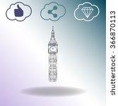 the tower of big ben   vector... | Shutterstock .eps vector #366870113