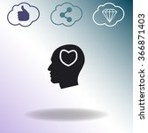 human profile with heart vector ... | Shutterstock .eps vector #366871403