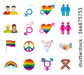 Gays Icons. Gays Icons Set....