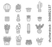 Succulents And Cacti Outline...