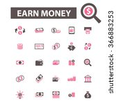 earn money  cash icons  signs... | Shutterstock .eps vector #366883253
