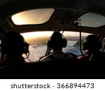 inside helicopter  pilot and 2... | Shutterstock . vector #366894473