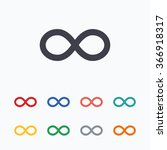 repeat icon. loop symbol.... | Shutterstock . vector #366918317
