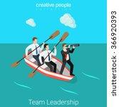 leadership in business team... | Shutterstock .eps vector #366920393