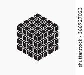 cube  geometric element  vector ... | Shutterstock .eps vector #366927023