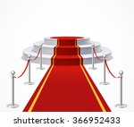 round podium with red carpet... | Shutterstock .eps vector #366952433