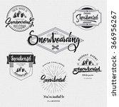 badges snowboard handmade... | Shutterstock .eps vector #366956267