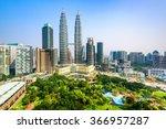kuala lumpur  malaysia city... | Shutterstock . vector #366957287