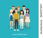 your creative team. business... | Shutterstock .eps vector #366957407