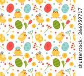 vector seamless pattern on... | Shutterstock .eps vector #366959717